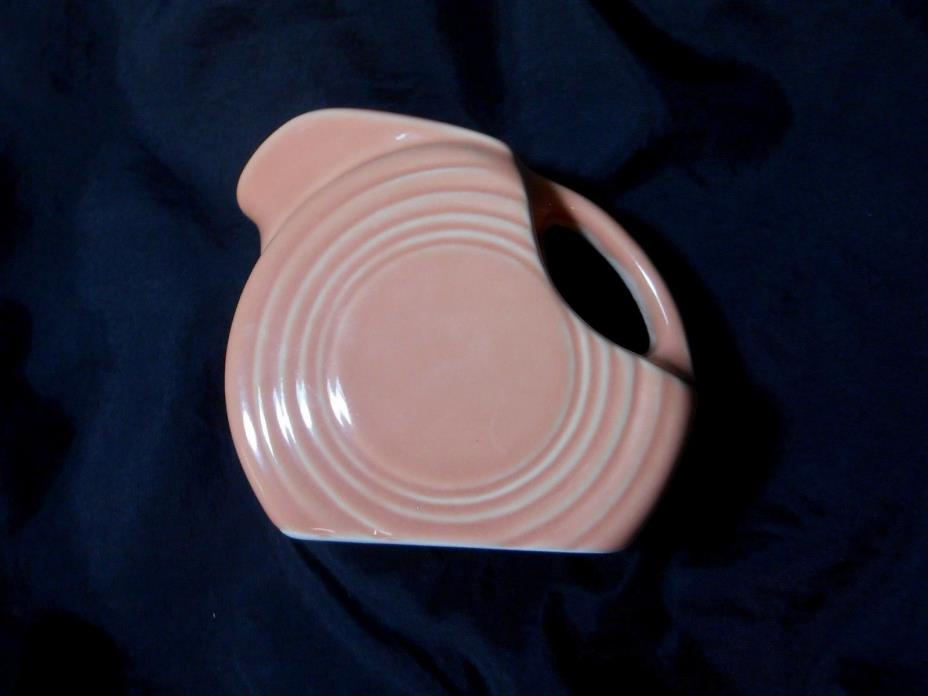 Vintage Fiestaware Homer Laughlin Small Pitcher Rose Pink Retired Creamer