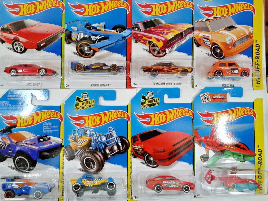8 X Hot Wheels Toys Cars Vehicles Morris Mini,Winning Formula,Toyota & More