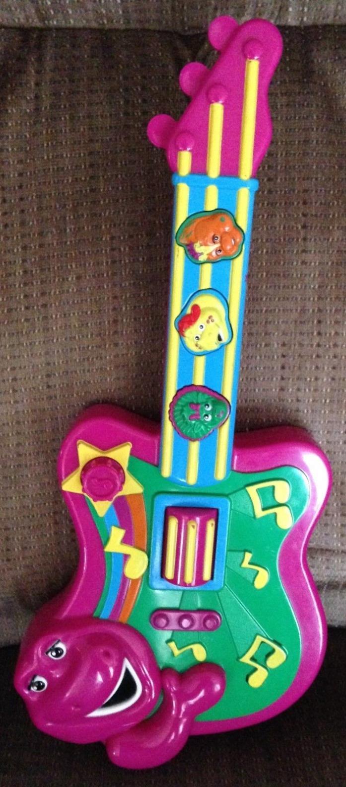 2007 Jakks Pacific Barney Dinosaur Musical Talking Guitar Riff BJ Baby Bop Toy