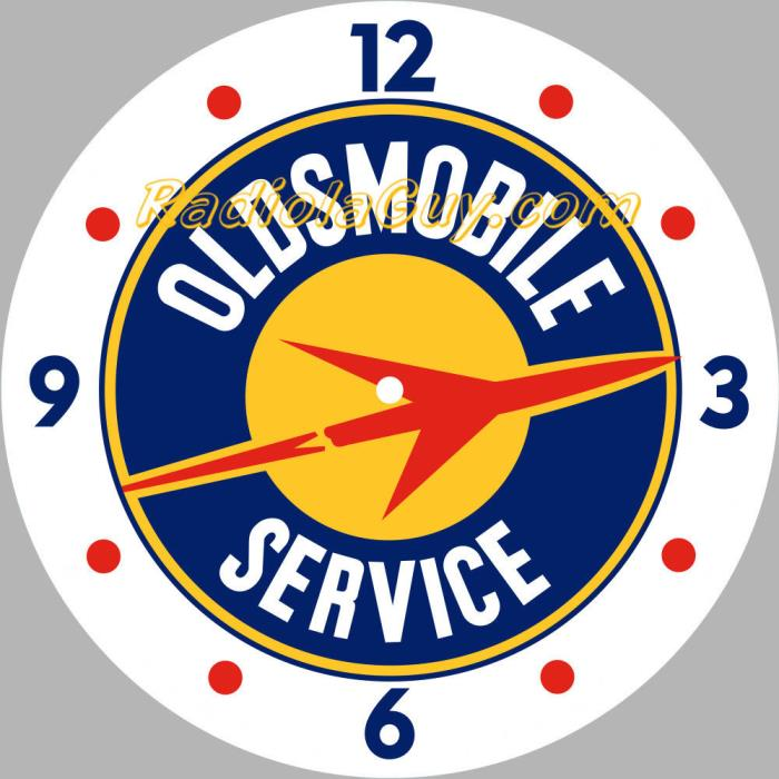 PAM Clock Face Oldsmobile Service