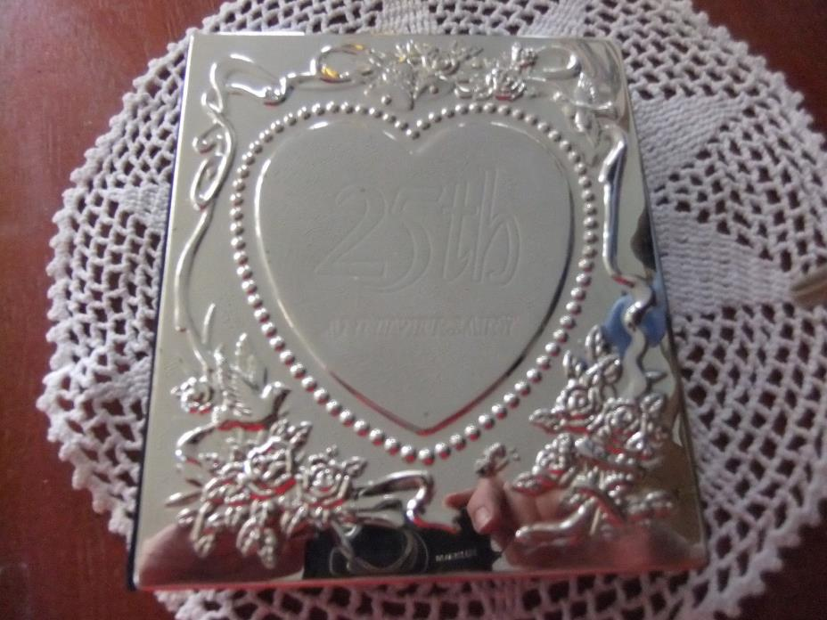 25TH WEDDING ANNIVERSARY PHOTO ALBUM / MEMORY BOOK