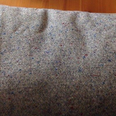 3+ Yards Grey Tweed Wool Fabric