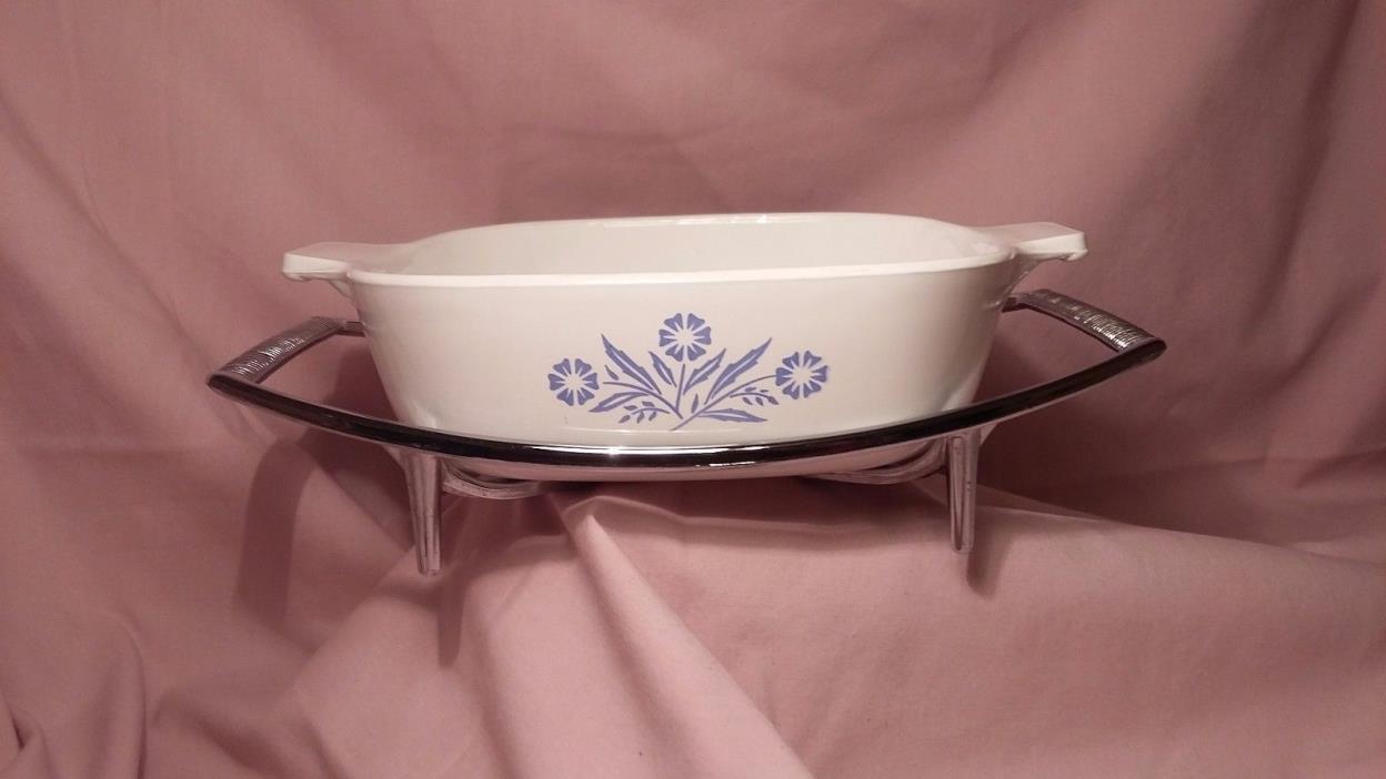 CORNINGWARE cornflower blue 1 qt casserole dish