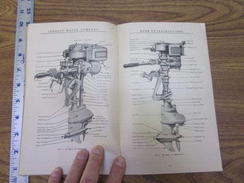 Original Vtg 1928? Johnson Outboard Motor Instruction Book, 35 Pages