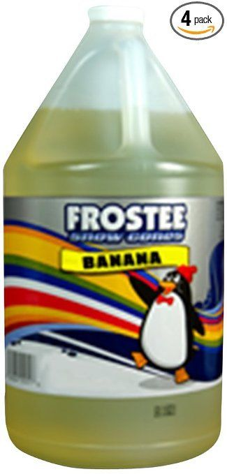 Frostee Snow Cone Syrup, Banana, 128 Ounce (pack of 4)