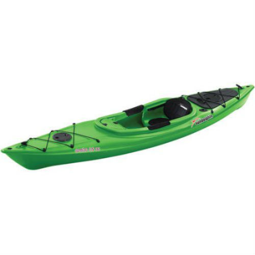 Green, Kayak Sit-In 12' with Bonus Paddle Adjustable Foot Braces Covered Console