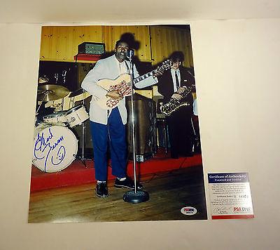 CHUCK BERRY JOHNNY B GOODE SIGNED AUTOGRAPH 11X14 PHOTO PSA/DNA COA #Q86079