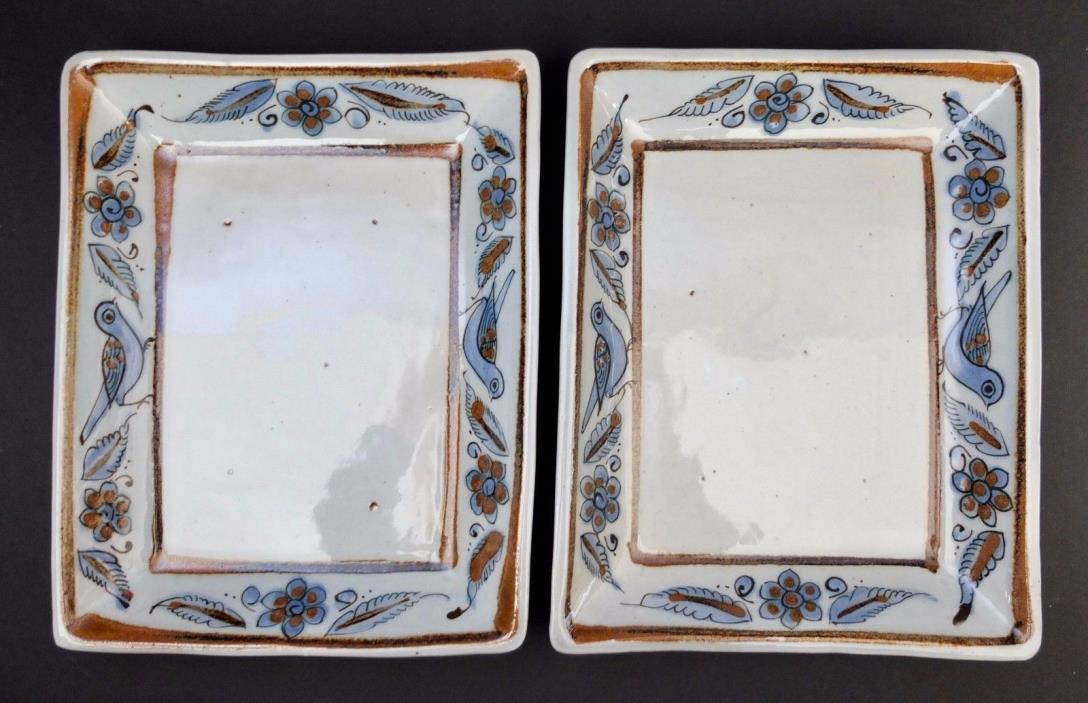 Two Vintage Ken Edwards Tonala Buen Gusto El Palomar Mexico Trays Or Platters
