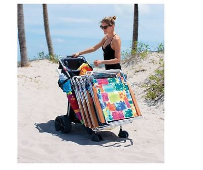 Beach Cart For Sand with Big wheels rolling fishing Chair Carrier Wonder Wheeler