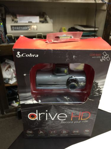 NIB Cobra Electronics CDR 840 Drive HD Dash Cam with GPS - Brand New Sealed