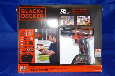 Black & Decker 12V Lithium Drill and Driver Project Kit.