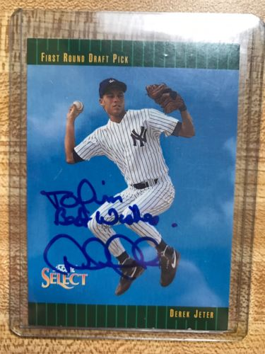 Derek Jeter Yankees '93 Pinnacle Score Select Signed Auto Card Rookie Signature