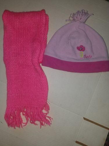 Barbie Winter Hat W/Scarf Kids