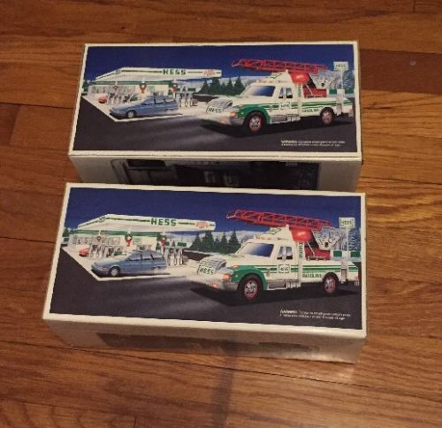 Hess Rescue Truck 1994 94 Lot Of 2 Trucks New