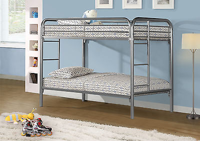 Monarch Twin Bunk Bed in Silver Finish I 2230S