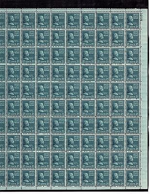 US MINT SHEET SCOTT#826,21C STAMP CHESTER ARTHUR  SHEET OF 100 MNH OG