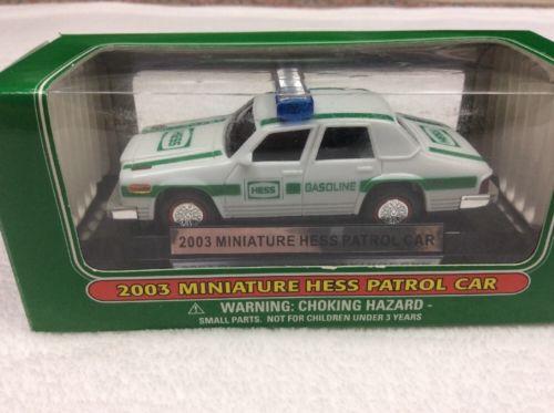 NEW Mini Hess Truck - 2003 Police Red & Blue Light Bar Patrol Car New In Box NIP