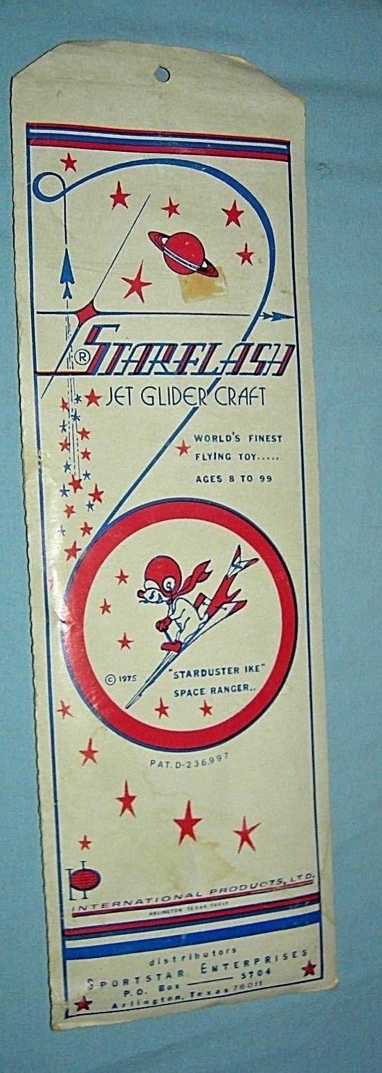 Vintage Starflash Jet Glider Craft MIP 1975