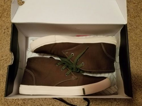 Mens new Aldo khaki mid high canvas shoes size 10.5