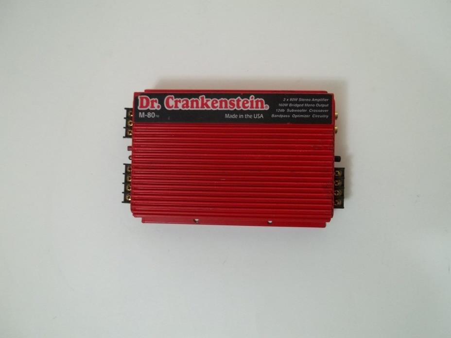 Old School Dr Crankinstien  2  Channel Car Audio Amplifier Amp
