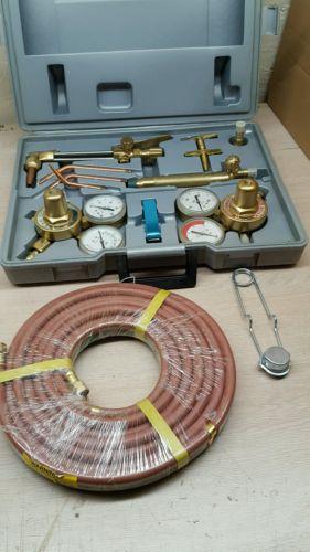 Vintage Gas Welding & Cutting Torch regulator Acetylene Welder Tool Set case