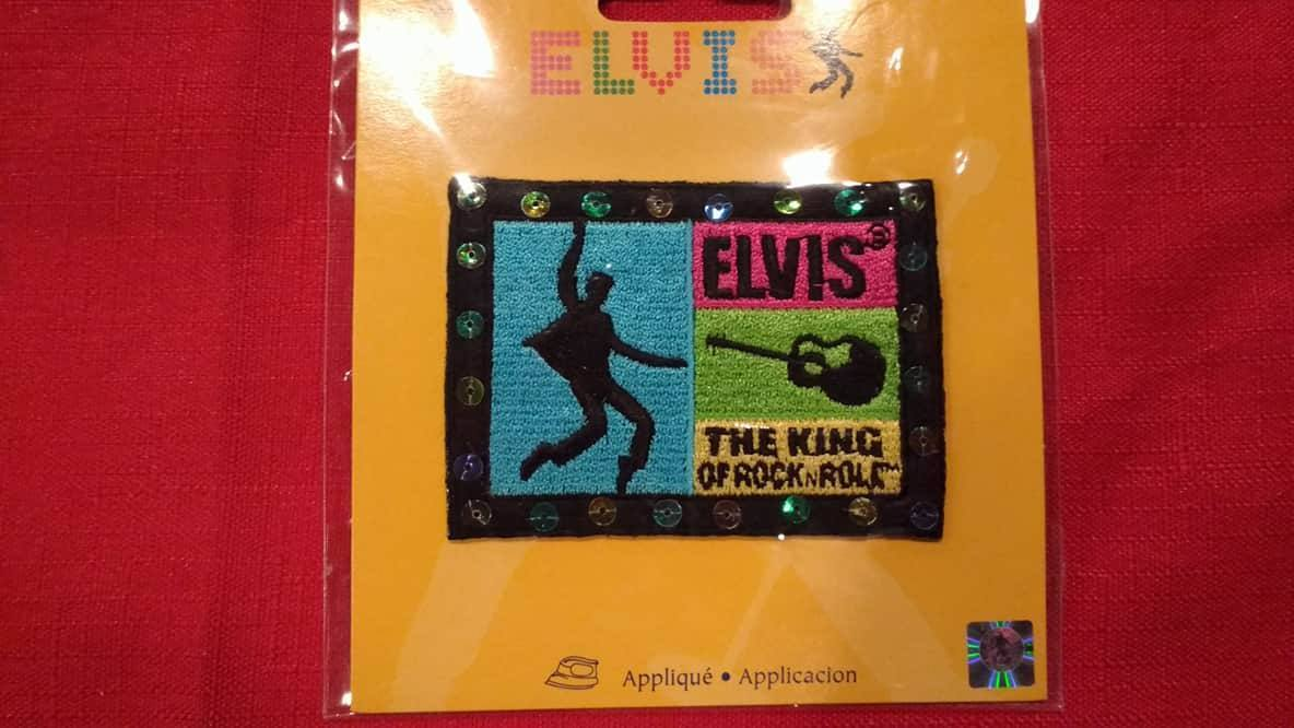 2 Elvis Presley patches lot Wrights applique iron on transfers appliques new