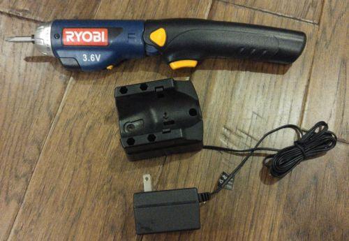 Ryobi HP37 Cordless 3.6 Volt Rechargeable Flexible Bend Screwdriver Free Shippin