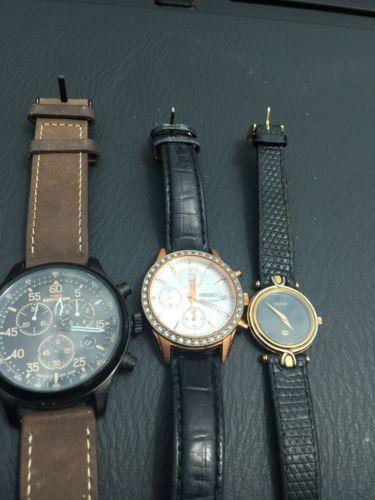 Watch Lot Gucci Swiss Timex Seiko Diamond Mixed L@@k!!! Chronograph