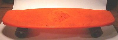 Vintage Huffy Thunderboard Orange Plastic Skateboard w/ Red Wheels