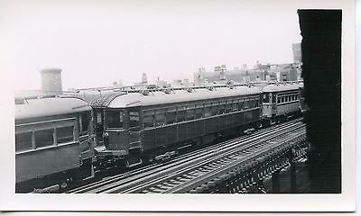 6E900D RP 1940s CNS&M NORTH SHORE ?  RAILROAD CAR #734