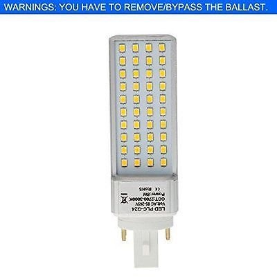 HERO-LED G24-40S-4P-DW Rotatable PL-C Lamp G24Q 4-Pin LED CFL/Compact Lamp, 8W