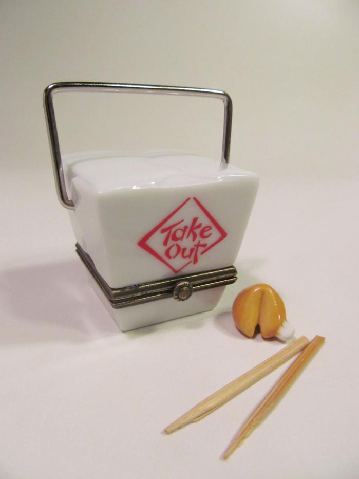 *Midwest of Cannon Falls Chinese Food Take Out Porcelain Hinged Box PHB