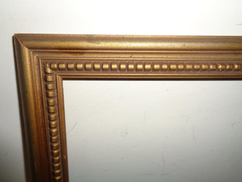 Vintage Gold Wood Picture Frame with Beading