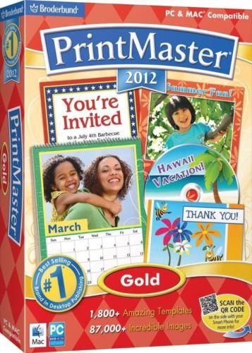 PrintMaster 12 Gold Design Software for Windows-Mac
