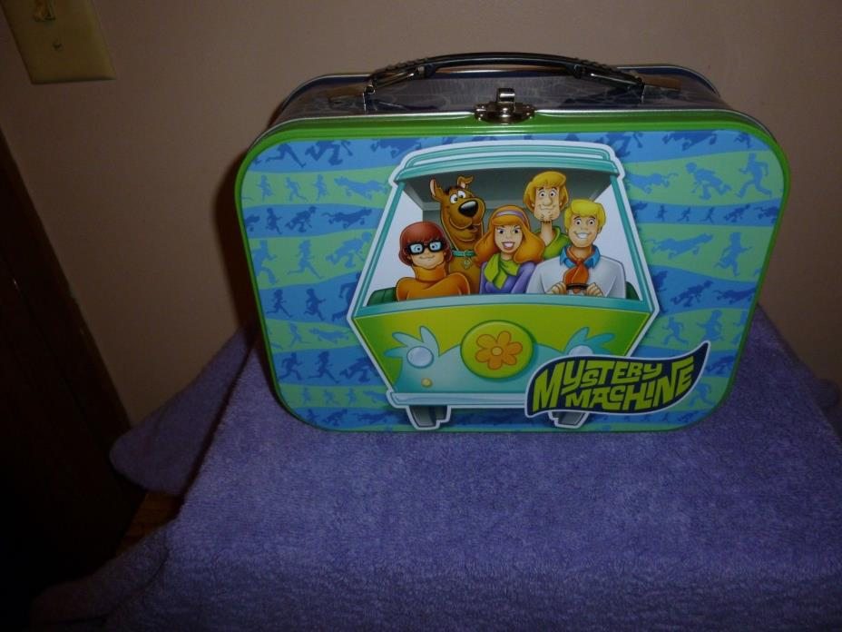 Scooby Doo Metal Lunch Box Style Tin Tote-New
