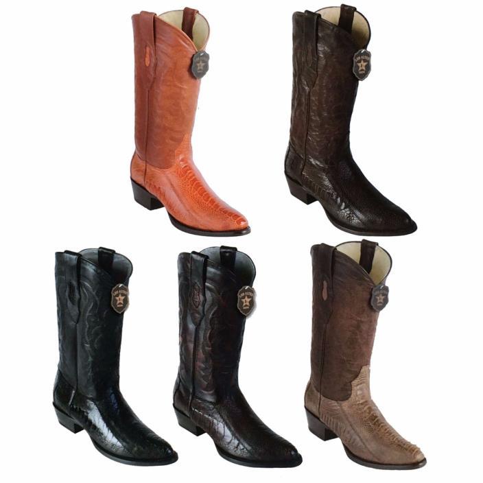 Los Altos, Western Men's Boots, Ostrich Leg, H-65 Round Toe, Cowboy Boots