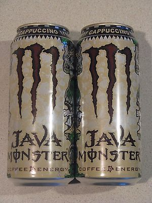 2 Monster Java Energy Drinks Cappuccino Coffee 15oz Rare