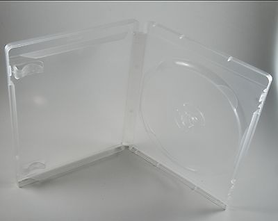 5 PS3 Game Clear Single Disc Case Blu Ray Logo Playstation 3 Translucent 14mm