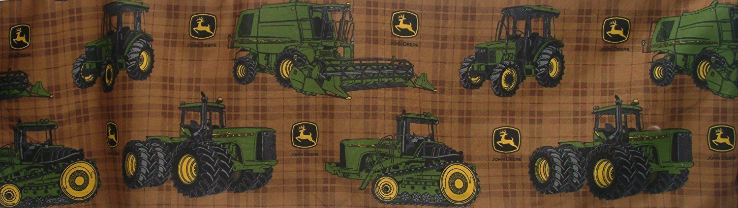 John Deere Bedding Traditional Tractor and Plaid Collection Bed Skirt, Full