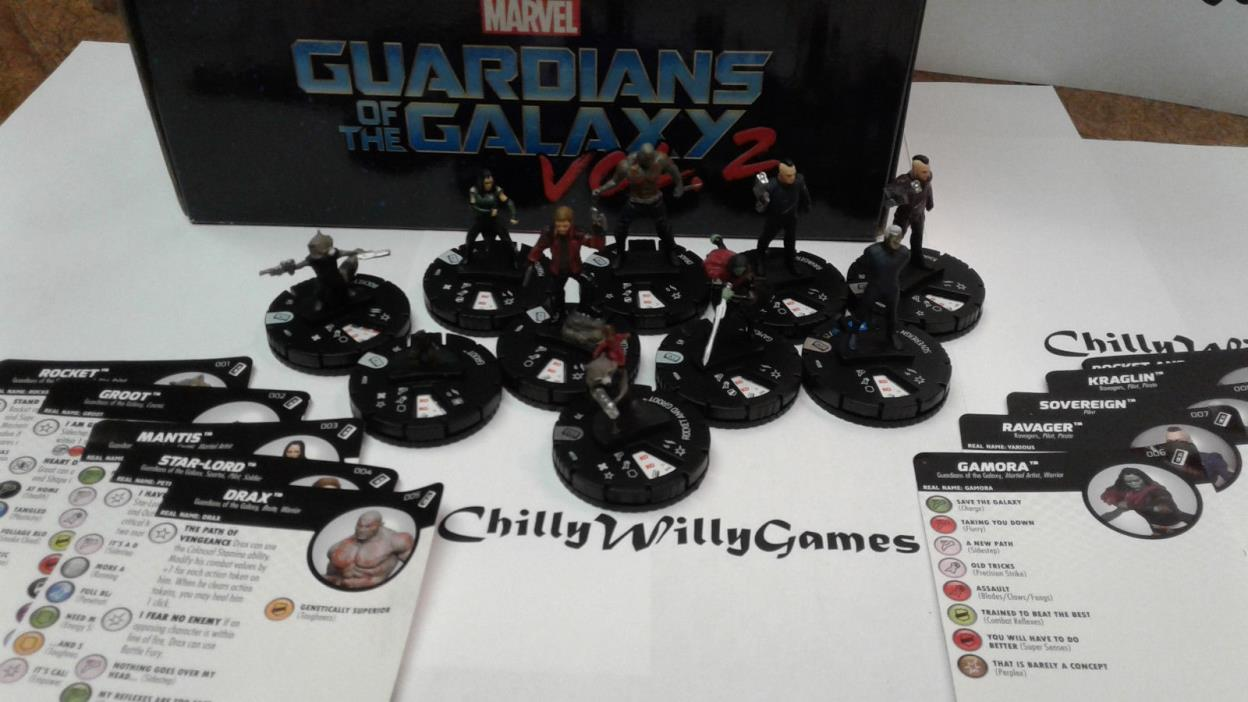 Heroclix Guardians of the Galaxy Vol 2 Movie Complete 10 Figure Set FREE SHIP