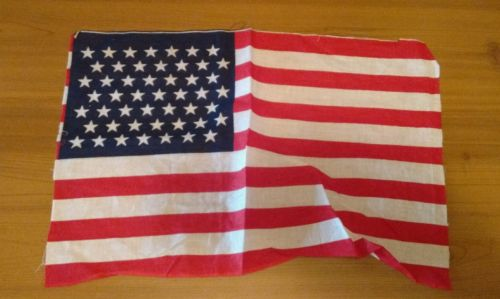 1940-50's WW2 49 STAR AMERICAN FLAG RARE VICTORY USED PARADE PRIMITIVE PIECE A+
