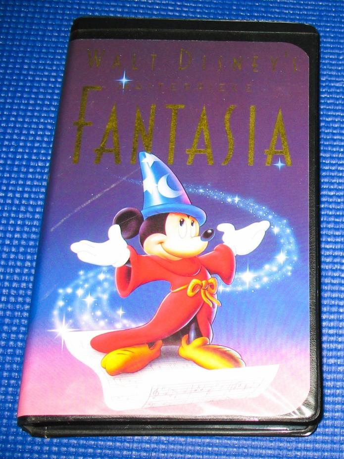 Walt Disney's Masterpiece Fantasia (VHS, 1991, Black Clam Shell Case)