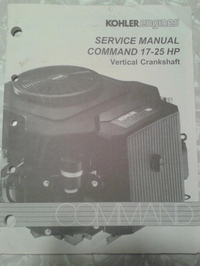 Kohler Command 17 25 HP  Vertical Crankshaft Engine Service Manual