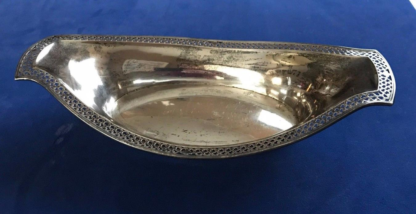 Vintage Sterling Silver Basket/Bowl Pierced Design by Webster Company 11.25 inch