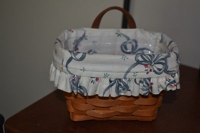 longaberge  Hanging Booking Key Basket  Ribbon Liner Protector RARE!
