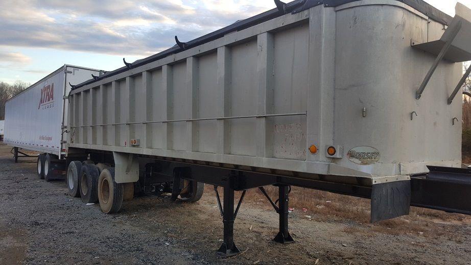Aluminum Body Steel Frame Dump Trailer 32 foot