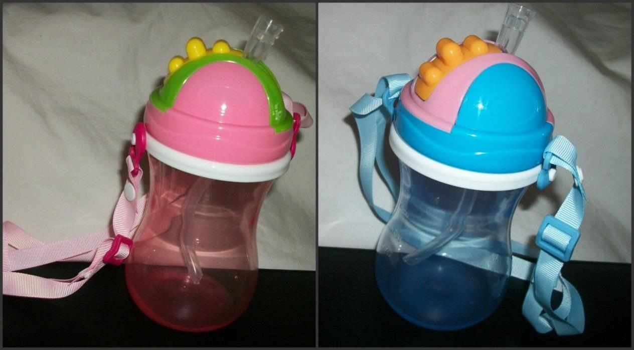 New 11.8 Ounce Straw Bottle Sippy Cups anonymous listing