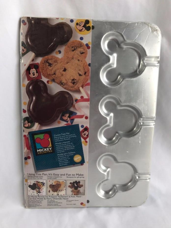 *RARE* DISNEY 1995 MICKEY MOUSE Unlimited Sealed  Wilton Cookie Treat Pan