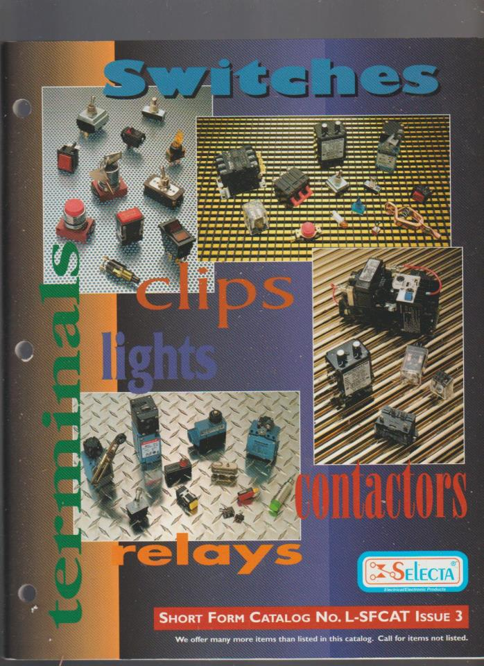 Selecta Witches Clips Lights Contactors Relays Catalog 1997