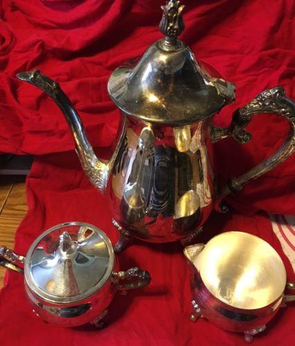 Vintage Antique Leonard Silver plate Tea Set